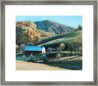 Barn At Blowing Rock Framed Print