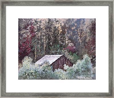 Barn At Cades Cove Framed Print by Todd A Blanchard