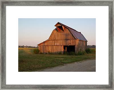 Barn At Early Dawn Framed Print by Douglas Barnett