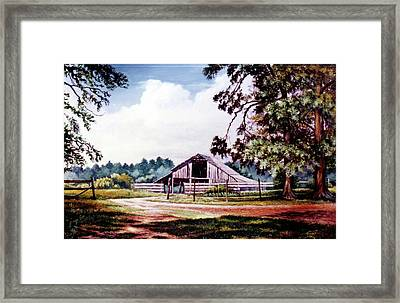 Barn At Honey Island Framed Print