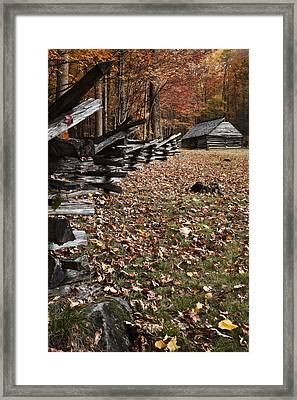 Barn At Jim Bales Place Framed Print by Andrew Soundarajan