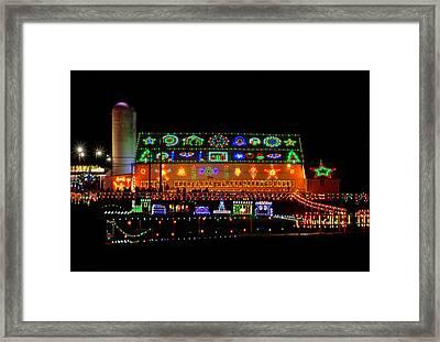Barn At Koziars Christmas Village Framed Print