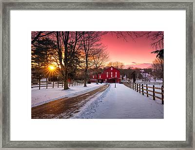 Barn At Sunset  Framed Print by Emmanuel Panagiotakis
