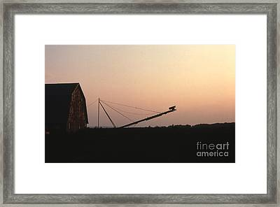 Barn At Sunset Framed Print by Timothy Johnson