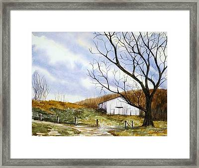 Barn At The Stage Stop Framed Print by Travis Kelley
