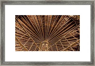 Barn Beams Framed Print