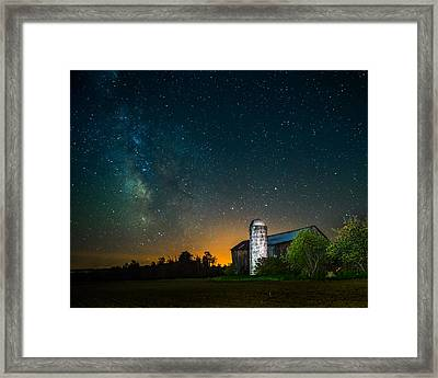 Barn Below The Heavens Framed Print