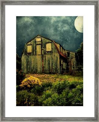 Barn By The Beach Framed Print by RC deWinter