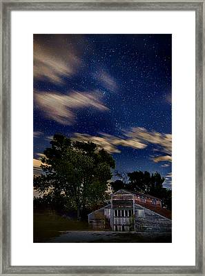 Barn - Clouds - Stars Framed Print