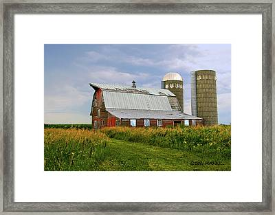 Framed Print featuring the photograph Barn by Don Durfee