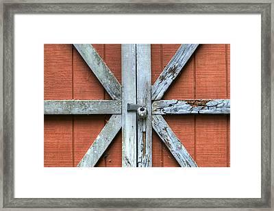 Barn Door 1 Framed Print by Dustin K Ryan