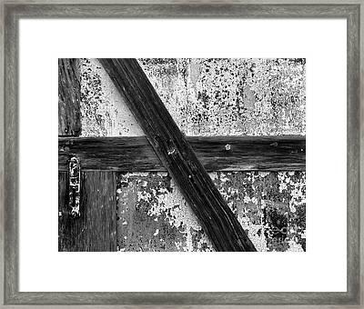 Barn Door Framed Print by Christian Slanec