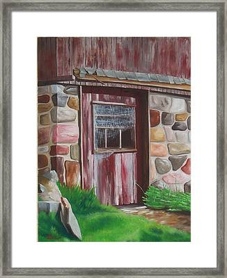 Barn Door In Memphis Framed Print by Barbara Auito
