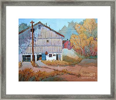 Barn Door Whimsy Framed Print