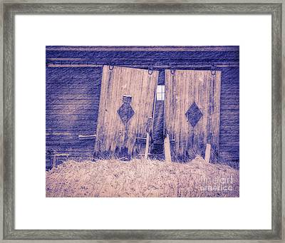 Barn Doors Jericho Center Vt Framed Print