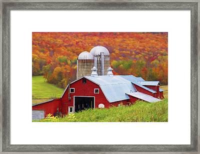 Barn Fairfield Vermont Framed Print