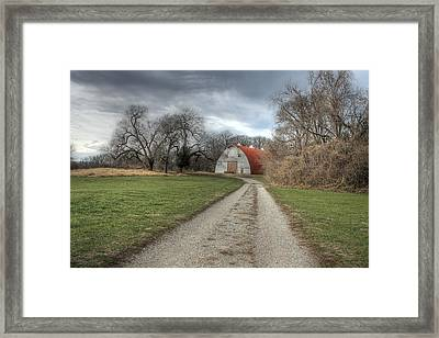 Barn Faust Park Missouri Framed Print by Jane Linders