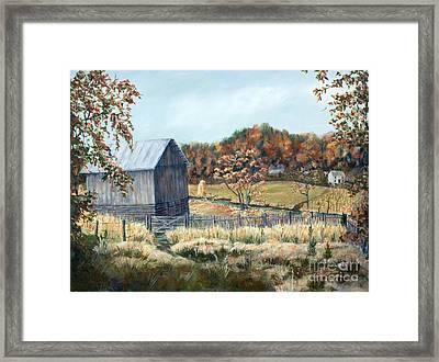 Barn From Long Ago Framed Print