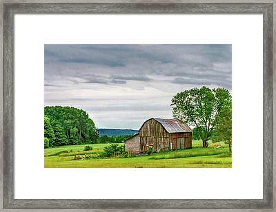 Barn In Bliss Township Framed Print by Bill Gallagher