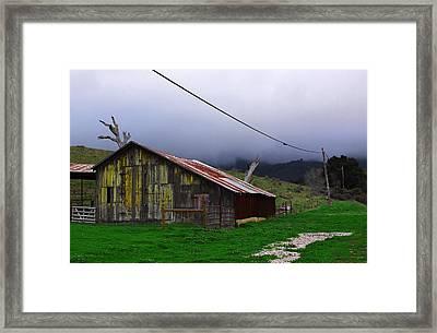 Barn In Rain Framed Print by Viktor Savchenko