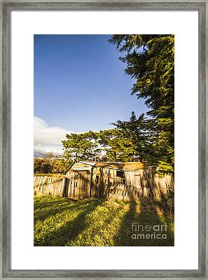 Barn In Rural Back-country Australia Framed Print by Jorgo Photography - Wall Art Gallery