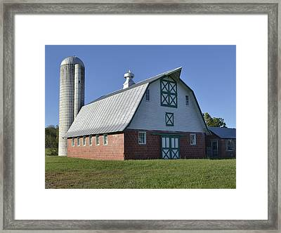 Barn In Rural Virginia Framed Print by Brendan Reals