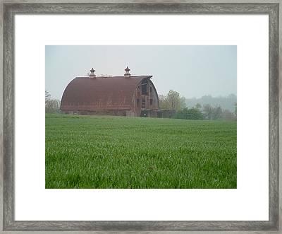 Barn In Summer Framed Print