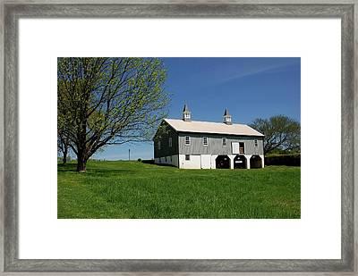 Barn In The Country - Bayonet Farm Framed Print
