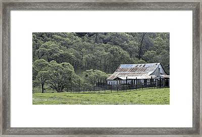 Barn In The Meadow Framed Print