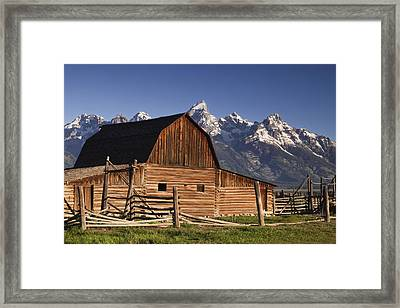 Barn In The Mountains Framed Print by Andrew Soundarajan