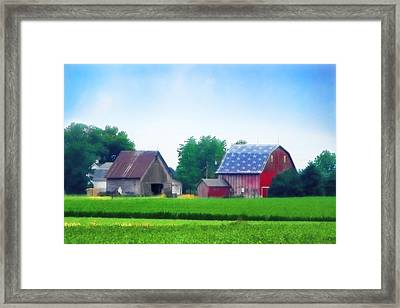 Barn In The U.s.a Framed Print