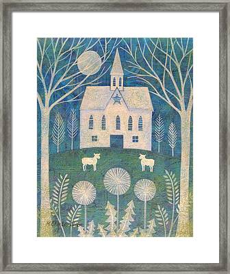 Barn In The Woods Framed Print by Mary Charles
