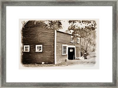 Barn In The Woods Framed Print