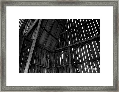 Barn Inside Framed Print