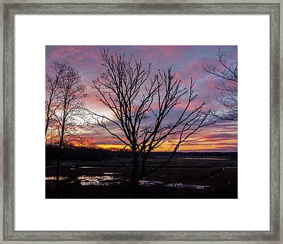 Framed Print featuring the photograph Barn Island - Pawcatuck Ct by Kirkodd Photography Of New England