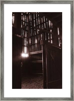 Barn Framed Print by Katherine Huck Fernie Howard