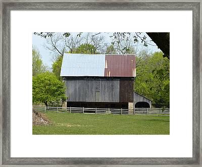 Barn Of Fair Hill Framed Print by Donald C Morgan