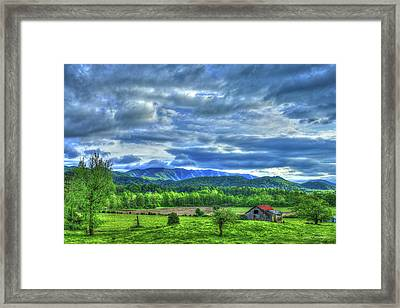 Barn On A Hill Great Smoky Mountains Framed Print by Reid Callaway