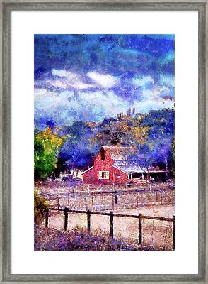 Barn On Ca Highway 154 Framed Print by Joseph Hollingsworth