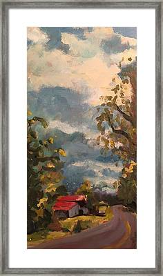 Barn On Carters Creek Framed Print