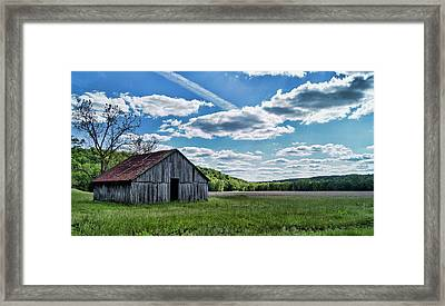 Framed Print featuring the photograph Barn On Cedar Creek Bottoms by Cricket Hackmann