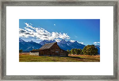 Barn On Mormon Row Framed Print