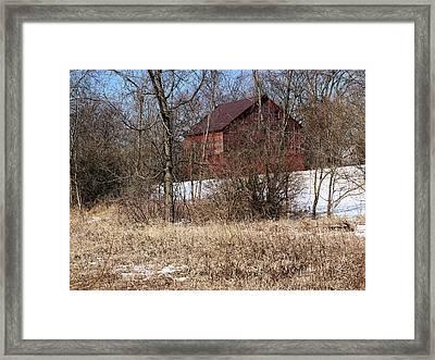 Barn On The Edge Of Town Framed Print by Scott Kingery