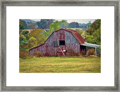 Barn On White Oak Road 2 Framed Print