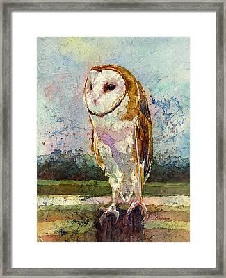 Barn Owl Framed Print by Hailey E Herrera