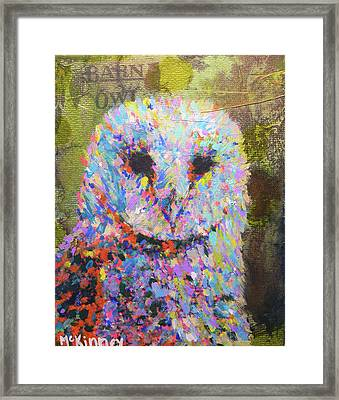 Barn Owl Framed Print by Lisa McKinney