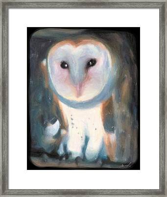 Barn Owl Framed Print by The Art of Marsha Charlebois