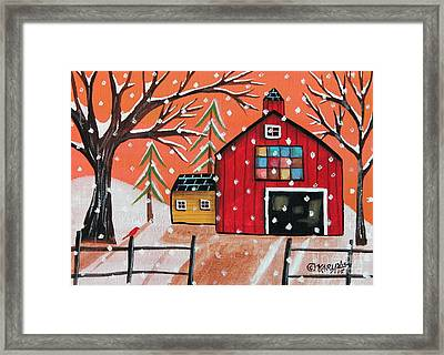 Barn Quilt Framed Print by Karla Gerard