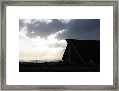 Barn Rays Framed Print by KatagramStudios Photography