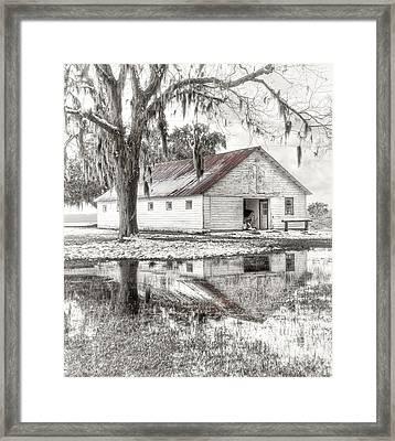 Barn Reflection Framed Print by Scott Hansen